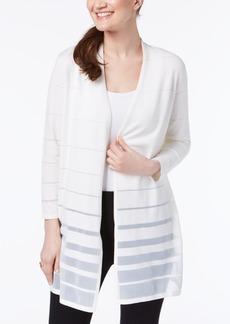 Alfani Shadow-Stripe Cardigan, Created for Macy's