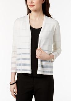 Alfani Shadow-Striped Cardigan, Created for Macy's