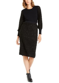 Alfani Shimmer Eyelash-Sleeve Sweater, Created For Macy's