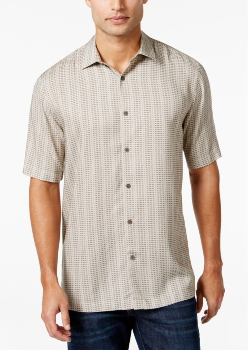 Alfani Short-Sleeve Dash-Print Shirt, Only at Macy's