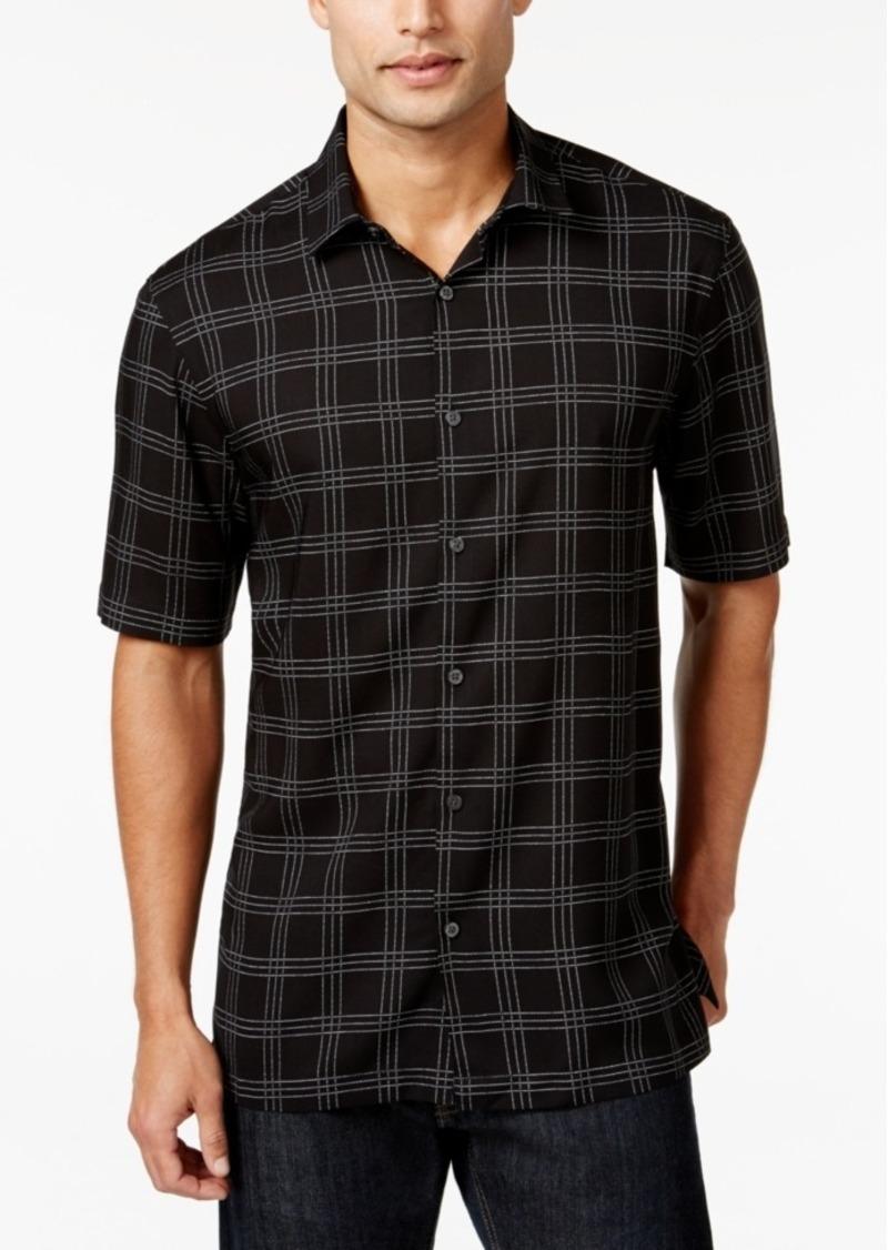 Alfani Short-Sleeve Plaid Print Shirt, Only at Macy's