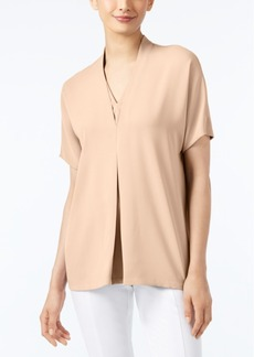 Alfani Short-Sleeve V-Neck Blouse, Only at Macy's