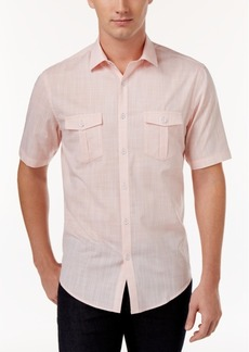 Alfani Short Sleeve Warren Textured Shirt, Created for Macy's