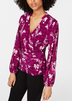 Alfani Side-Tie Surplice Top, Created for Macy's