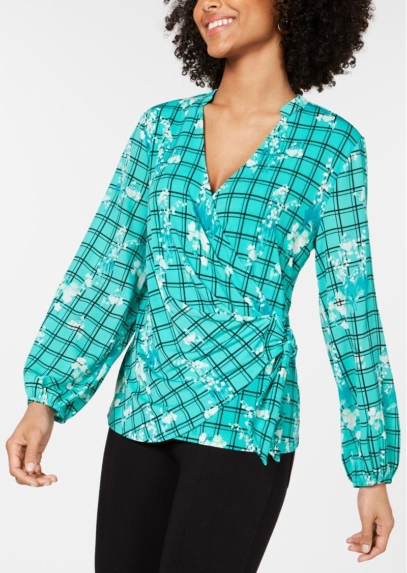 Alfani Side-Tie Surplice Top, Created for Macy's