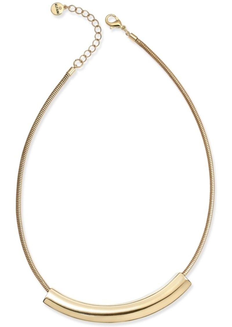 "Alfani Curved Bar Collar Necklace, 17"" + 2"" extender, Created for Macy's"