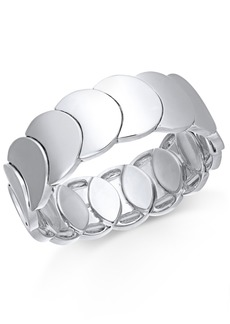 Alfani Silver-Tone Disc Stretch Bracelet, Created For Macy's