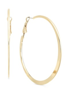 Alfani Flat-Edge Large Hoop Earrings, Created for Macy's