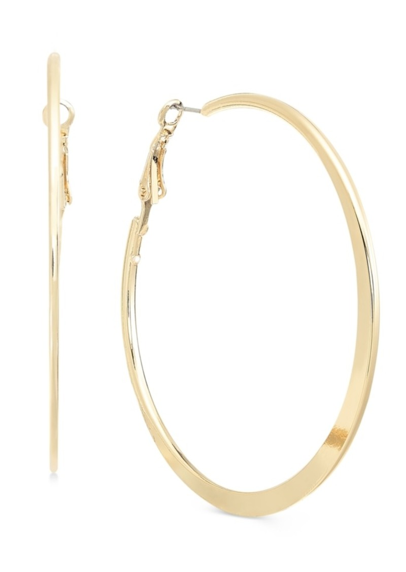 Alfani Silver-Tone Flat-Edge Large Hoop Earrings, Created for Macy's