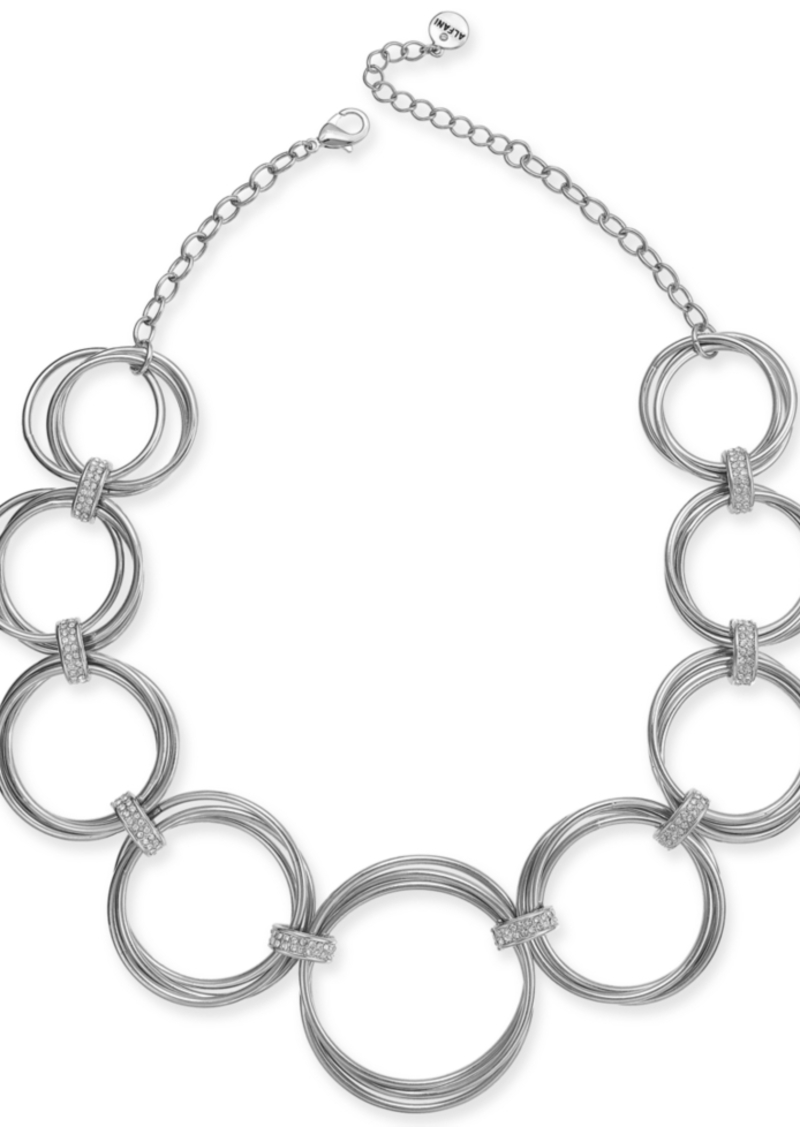 "Alfani Multi-Hoop Statement Necklace, 17"" + 2"" extender, Created for Macy's"
