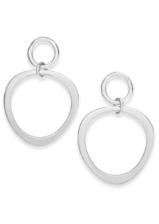 Alfani Silver-Tone Polished Double Circle Drop Earrings, Created for Macy's