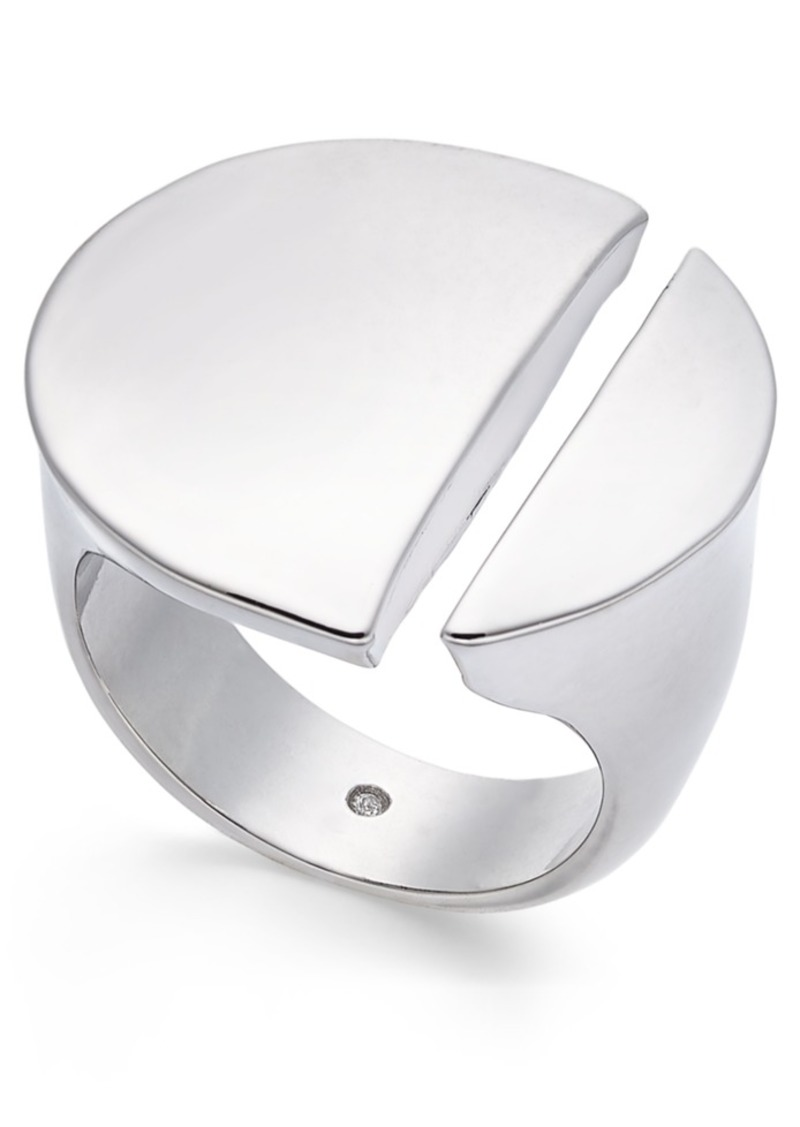 Alfani Silver-Tone Split Circle Ring, Created For Macy's