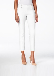 Alfani Skinny Pull-On Zipper-Detail Capri Pants, Only at Macy's