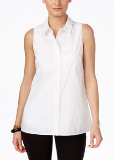 Alfani Sleeveless Button-Front Blouse, Only at Macy's