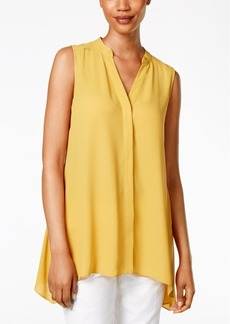 Alfani Petite Sleeveless Handkerchief-Hem Top, Only at Macy's