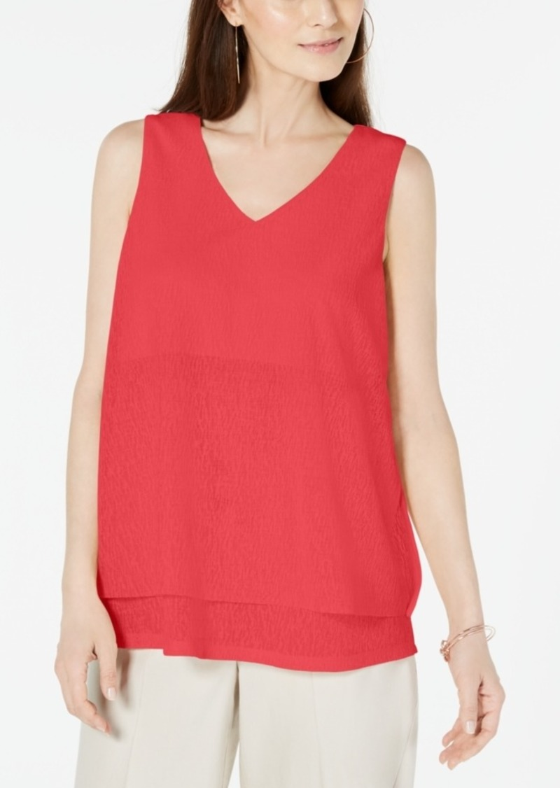 Alfani Sleeveless Layered Top, Created for Macy's
