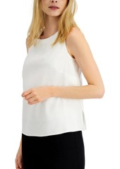 Alfani Sleeveless Linen-Blend Top, Created for Macy's
