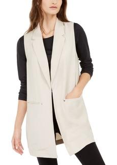 Alfani Sleeveless Notch-Collar Vest, Created For Macy's
