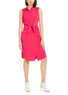 Alfani Sleeveless Tie-Front Shirtdress, Created For Macy's