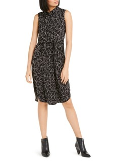 Alfani Sleeveless Tie-Waist Shirtdress, Created For Macy's