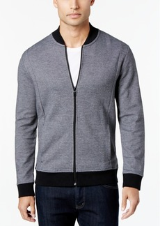 Alfani Slim Pique Bomber Track Jacket, Created for Macy's