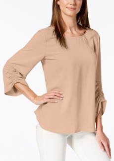 Alfani Smocked 3/4-Sleeve Blouse, Created for Macy's