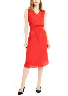 Alfani Smocked Chiffon Sleeveless Dress, Created For Macy's