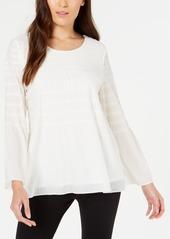Alfani Smocked-Stripe Top, Created for Macy's