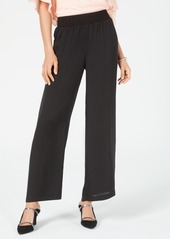 Alfani Petite Smocked-Waist Satin Pants, Created for Macy's