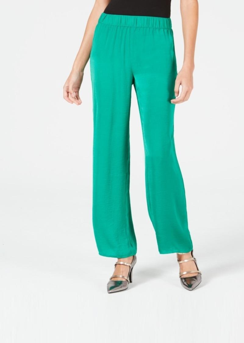 Alfani Smocked-Waist Washed-Satin Pants, Created for Macy's