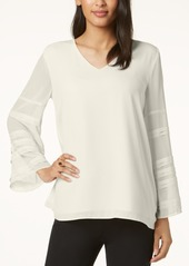 Alfani Solid Layered-Sleeve Top, Created for Macy's