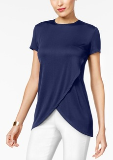 Alfani Solid Ribbed Tulip Top, Created for Macy's