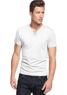 Alfani Men's Stretch Solid, Henley T-Shirt, Created for Macy's