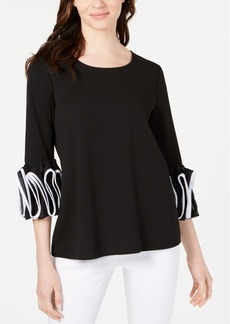 Alfani Spiral-Sleeve Top, Created for Macy's