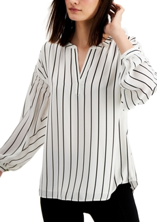 Alfani Striped Henley Top, Created for Macy's