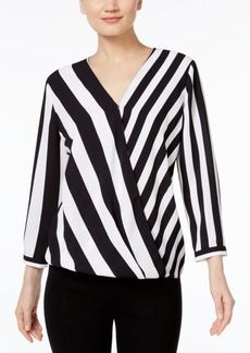 Alfani Striped High-Low Blouse, Only at Macy's