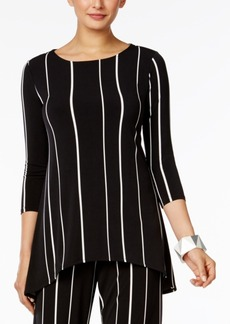 Alfani Striped High-Low Top, Created for Macy's