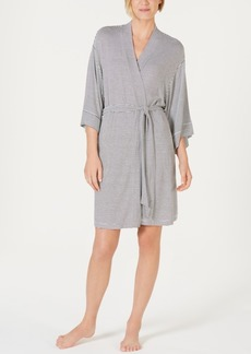 Alfani Striped Knit Kimono Robe, Created for Macy's