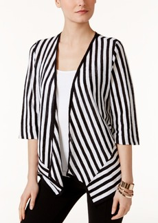 Alfani Petite Striped Open-Front Cardigan, Only at Macy's