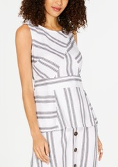 Alfani Striped Peplum Top, Created for Macy's