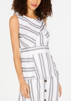 Alfani Striped Peplum Top, Created for Macy's