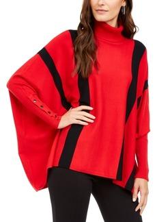 Alfani Striped Poncho Sweater, Created for Macy's