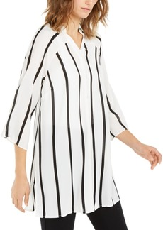 Alfani Striped Roll-Tab Tunic, Created For Macy's