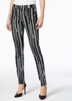 Alfani Striped Skinny Pants, Only at Macy's