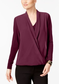 Alfani Surplice Top, Created for Macy's