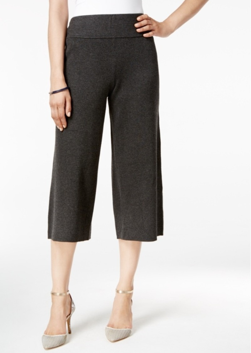 Alfani Sweater-Knit Culottes, Only at Macy's