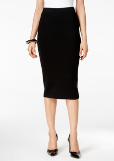 Alfani Sweater-Knit Pull-On Midi Skirt, Only at Macy's