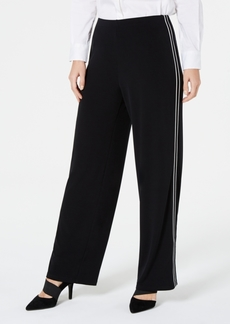 Alfani Petite Varsity-Striped Pants, Created for Macy's
