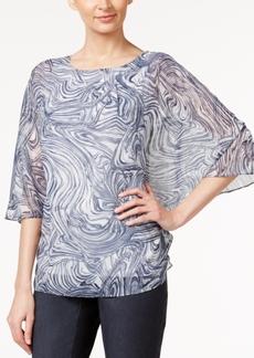 Alfani Swirl-Print Poncho Top, Only at Macy's