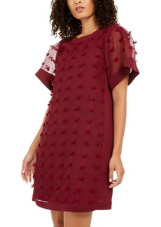 Alfani Textured-Dot A-Line Dress, Created for Macy's